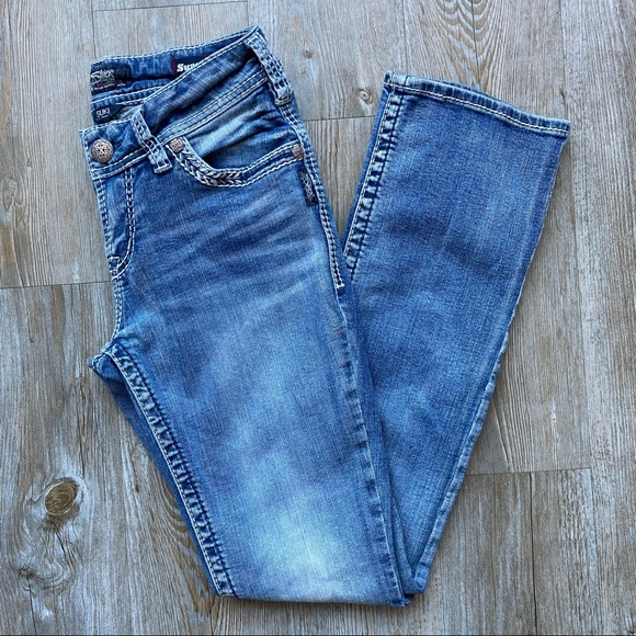 SILVER Suki Mid Slim Boot Cut Super Stretchy Jeans